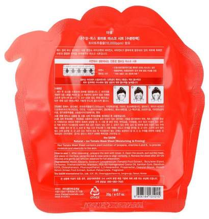 Маска для лица The Saem томатная тканевая, 20 г