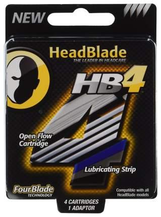 Набор сменных кассет для станка HeadBlade с 4мя лезвиями