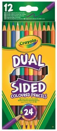 12 двухсторонних карандашей crayola