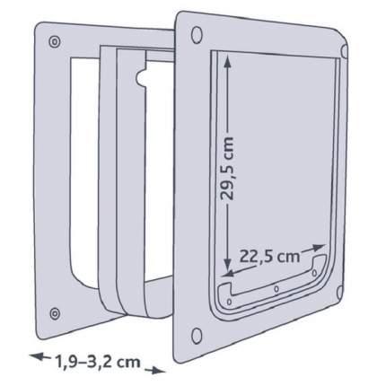 Дверца для животных TRIXIE 2-Way Flap, белая, 22,5х29,5см