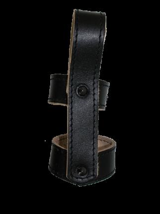 Крепление VT для дубинки резиновой, со шлевкой, на кнопке, черный К-2.