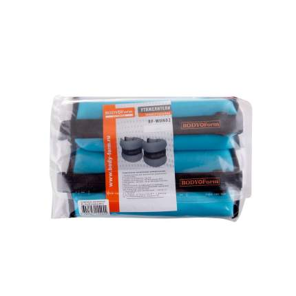 Утяжелители Body Form BF-WUN02 2 x 0,5 кг, light blue