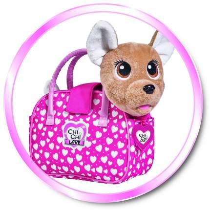 Мягкая игрушка CHI CHI LOVE 5893110 Собачка Счастливчик с сумочкой
