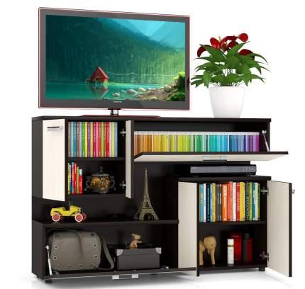 Тумба под телевизор приставная Мебельный Двор С1-1400 140х30х93 см, венге