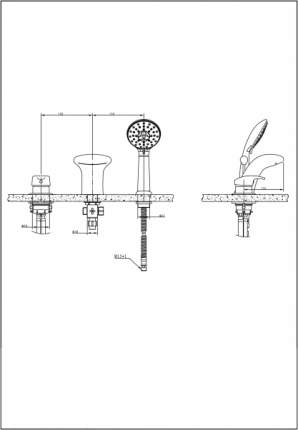 Смеситель для встраиваемой системы BRAVAT F5140197CP-1-RUS