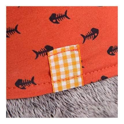 Мягкая игрушка BUDI BASA Кот Басик в оранжевой футболке в рыбки с львёнком 19 см