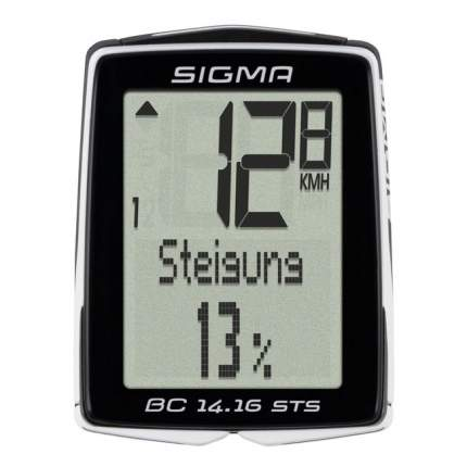Велокомпьютер Sigma BC 14.16 STS черно-белый