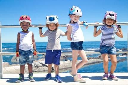 Шлем защитный детский Crazy Safety 2017 White Tiger белый