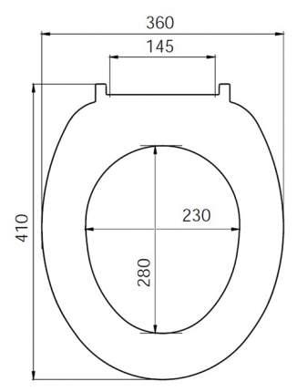 Сиденье для унитаза Iddis ID01061.1