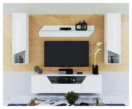 Тумба под телевизор приставная ТриЯ Diamond тип 4 TRI_105006 160x44x47,5 см, белый