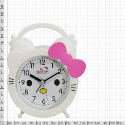 Часы-будильник VT Кити с бантом белые 4501049 4501049