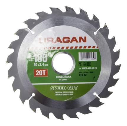 Диск по дереву для дисковых пил Uragan 36800-180-30-20