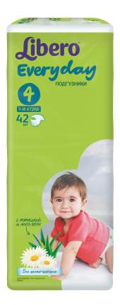 Подгузники Libero Everyday Size 4 (7-18кг), 42 шт.