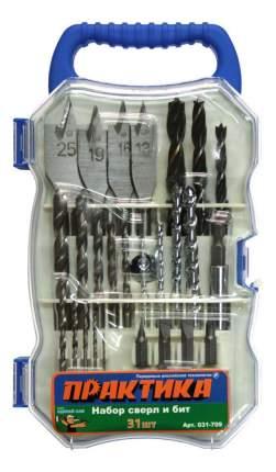 Наборы бит и сверл для дрелей, шуруповертов Практика 031-709