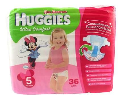 Подгузники Huggies Ultra Comfort для девочек 5 (12-22 кг), 36 шт.