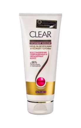 Бальзам для волос Clear Против перхоти Восстановление поврежденных волос 180 мл