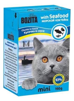 Влажный корм для кошек BOZITA Mini, морепродукты, 190г
