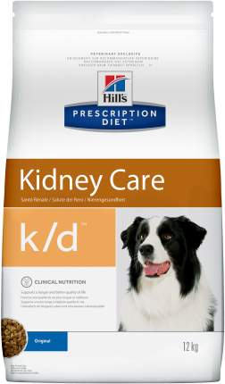 Сухой корм для собак Hill's Prescription Diet k/d Kidney Care, мясо, 12кг