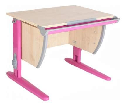 Парта Дэми Классик 75 см клен/розовая