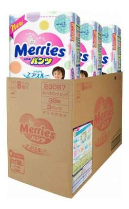 Подгузники-трусики Merries XL (12-22 кг), 114 шт.