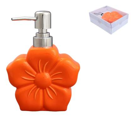 "Диспенсер 12*16 см, 400 мл, ""Цветок оранжевый"""