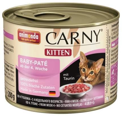 Консервы для котят Animonda Carny Kitten, говядина, курица, 200г