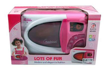 Микроволновая печь игрушечная Shantou Gepai Бело-розовая