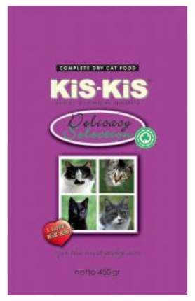 Сухой корм для кошек KiS-KiS Delicacy, ягненок, гусь, рыба, 0,45кг