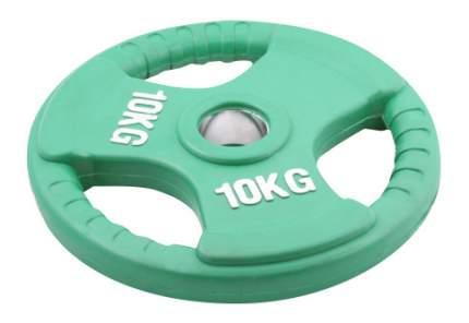 Блин обрезиненный Oxygen Fitness 10 кг сталь 51 мм зеленый