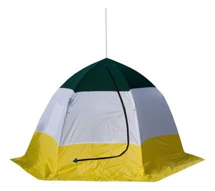 Палатка Стэк Elite трехместная белая/желтая/синяя
