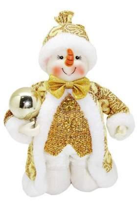 Кукла декоративная Новогодняя сказка Снеговик 20 см, золотой 973030