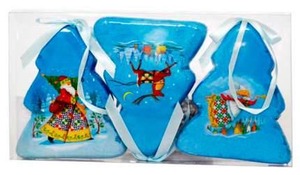 Набор елочных игрушек Winter Wings Елочки Зимний калейдоскоп 7,5х9 см 3 шт
