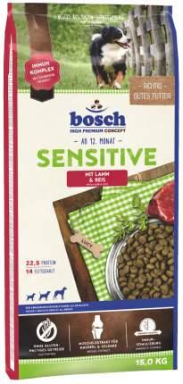 Сухой корм для собак Bosch Sensitive, для чувствительного пищеварения, ягненок и рис, 15кг