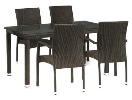 Набор дачной мебели Afina T256A/Y379A-W53 Brown 6Pcs
