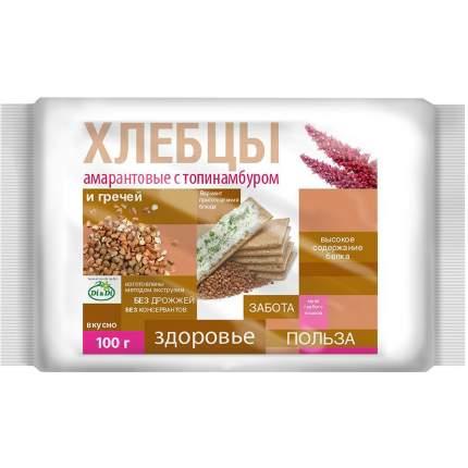 Хлебцы рисово-кукурузные Di&Di амарантовые с топинамбуром и гречкой без глютена 100 г