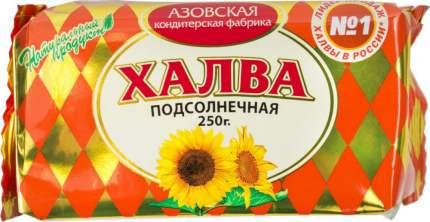 Халва подсолнечная Азовская кондитерская фабрика 250 г