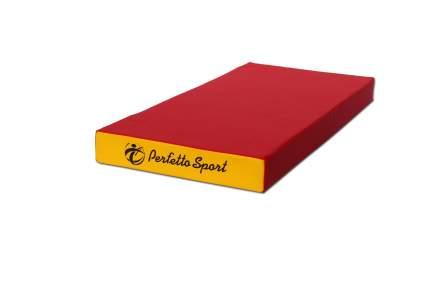 Гимнастический мат Perfetto Sport № 1 (100 х 50 х 10) красно-желтый