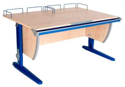 Парта Дэми СУТ-15-01 с двумя задними приставками Клен Синий 75х55 см