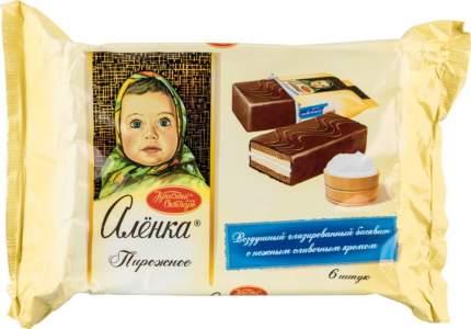 Пирожное бисквитное Аленка Красный Октябрь со сливочным кремом 240 г