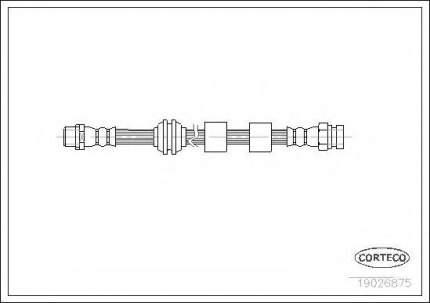 Шланг тормозной Corteco 19026875