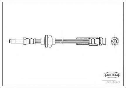 Шланг тормозной системы Corteco 19034663