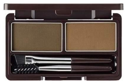 Пудра для бровей The Saem Eco Soul Eyebrow Kit, 02 Серо-коричневая, 2*2,5 г