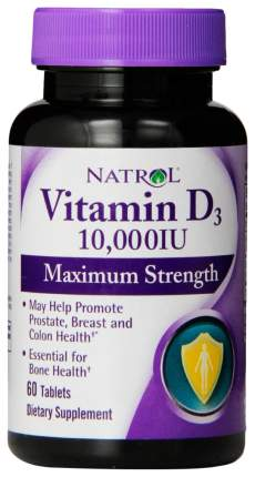 Витамин D Natrol Vitamin D3 10000 60 таблеток