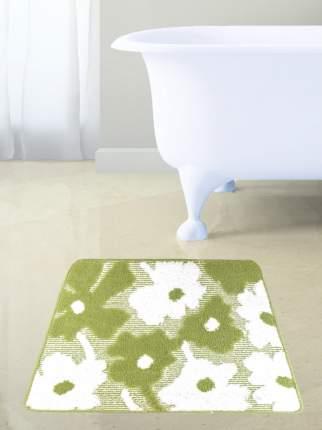 Коврик для ванны ЦВЕТЫ п/п 50*60см зеленый