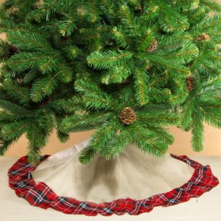 Юбка для елки Kaemingk Шотландка 90 см 668499
