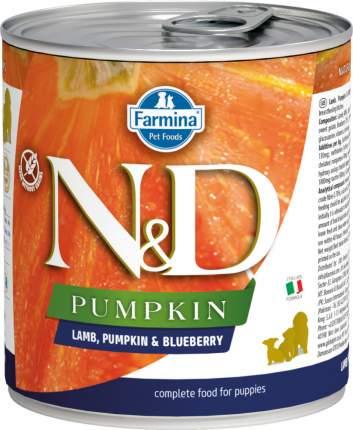 Влажный корм для щенков Farmina N&D Pumpkin, ягненок, тыква и черника, 285г