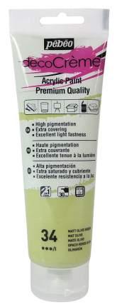 Акриловая краска Pebeo decoCreme кремовая матовая 089034 оливковый 120 мл
