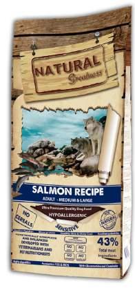 Сухой корм для собак Natural Greatness Sensitive Adult Medium&Large, лосось, 18 кг