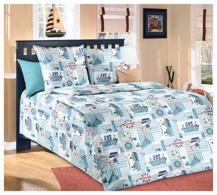 Комплект Детского постельного белья Кораблики 1,5 спальный, бязь