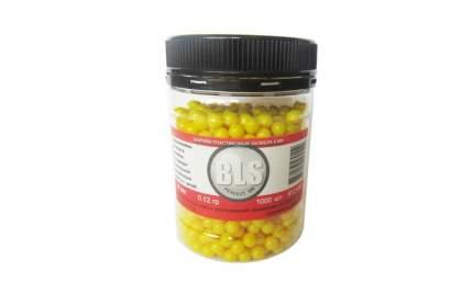Шарики для страйкбола 6 мм BLS 0.12 гр (уп. 1000 шт) жёлтые
